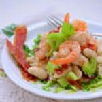salade terre mer aux haricots tarbais et jambon de bayonne croustillant100