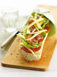 Tartine bacon-laitue-Comté