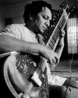 ravi shankar, en 1967, à los angeles