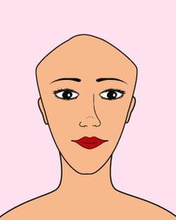 coiffure le visage triangle bas coiffure quelle. Black Bedroom Furniture Sets. Home Design Ideas