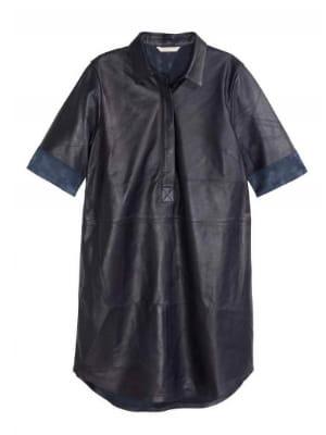 robe chemise en cuir de h m femme puriste cherche look. Black Bedroom Furniture Sets. Home Design Ideas