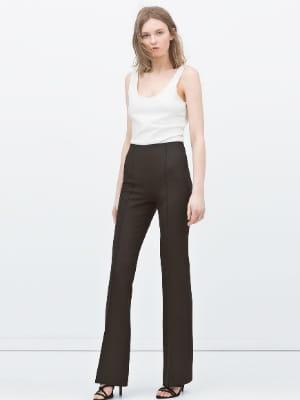 pantalon patte d 39 l phant taille haute de zara zara fait son woodstock journal des femmes. Black Bedroom Furniture Sets. Home Design Ideas