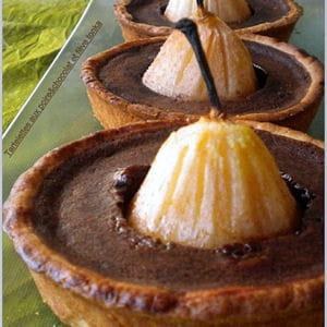 tartelettes aux poires et chocolat et fève tonka