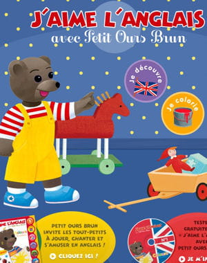 petit ours brun apprend l'anglais à vos enfants.