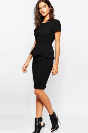 robe noire fourreau de sisley chez asos asos h m zara. Black Bedroom Furniture Sets. Home Design Ideas