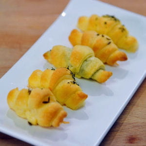 mini croissants apéritifs