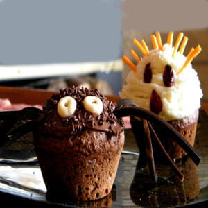muffins au chocolat et cacao