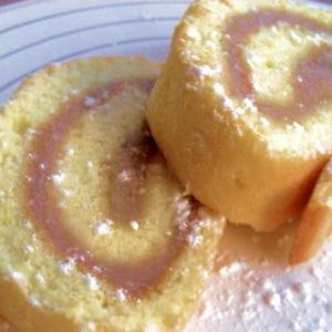 gâteau roulé à la crème de marrons