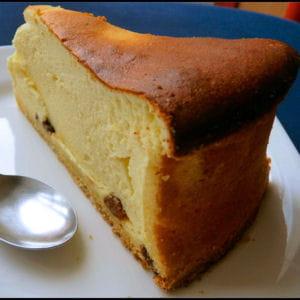 cheesecake au citron et raisins secs