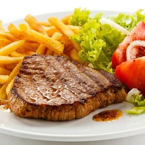 n°7 : le steak frites.