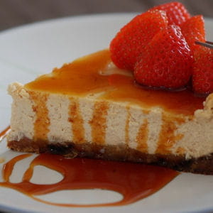 cheesecake au caramel et pain d'épices