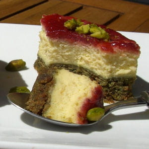 cheesecake pistache et framboise