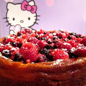 cheesecake au chocolat blanc et fruits rouges
