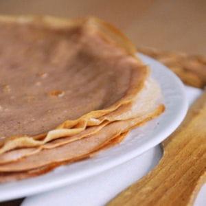 crêpes à la farine de châtaigne