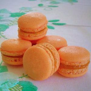 macarons à la mangue et au gingembre