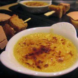 crême brûlée au foie gras