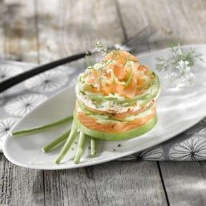 millefeuille de saumon aux pommes granny