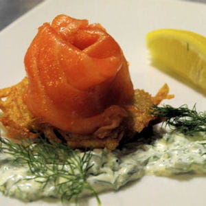 galettes de pommes de terre au saumon et à l'aneth