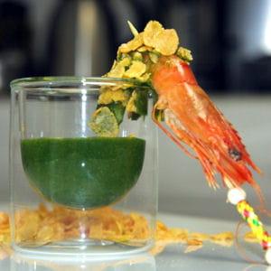 condiment pour l'apéro, mâche et citron vert
