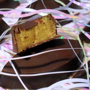 chocolats au marzipan aux pistaches et amandes