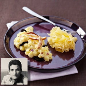pommes de terre à la tête de moine aoc, truffes et cèpes façon risotto d'akrame