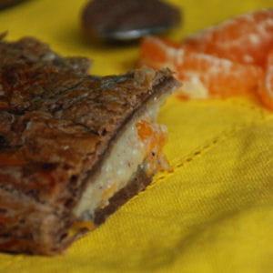 galette aux noisettes, châtaigne et clémentines