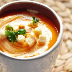 soupe à la carotte, courge et orange