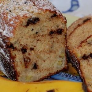 cake à la banane et pépites de chocolat