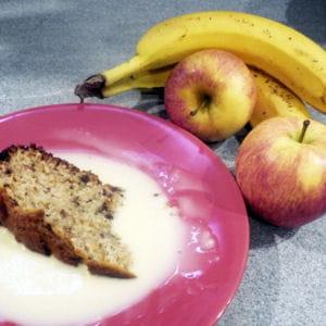 gâteau au yaourt au chocolat-pomme-banane