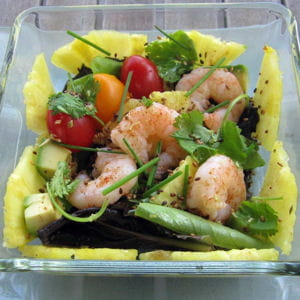 salade de crevettes à la citronnelle