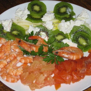 salade iodée aux fruits et chèvre frais
