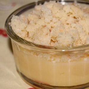 crème de citron sous crumble coco