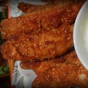 croquettes de poulet aux graines de sésame