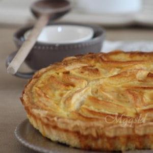 tarte normande vanillée aux pommes