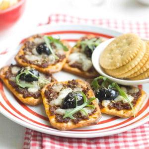 crackers façon pizza
