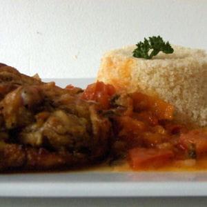poulet au gingembre et attiéké