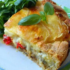 tarte aux légumes et raclette