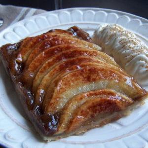 tarte fine pommes cannelle et crème de marron