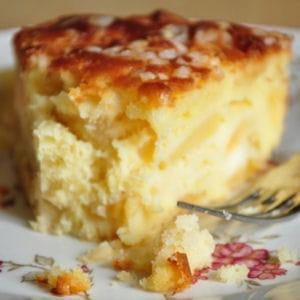 mon gâteau 'madeleine' aux pommes