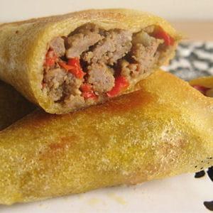 samoussas au bœuf et au poivron