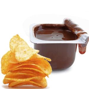 chips et crème au chocolat