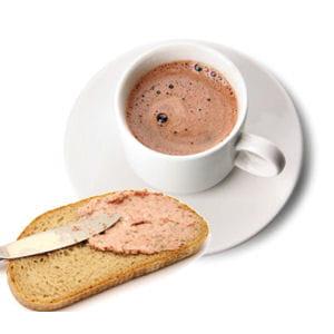 pâté de foie et chocolat chaud