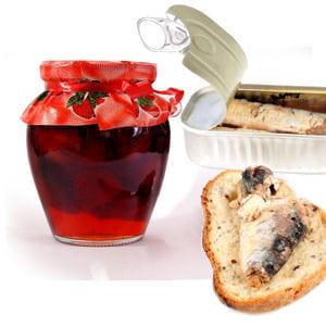 tartine de sardines et confiture de fraise