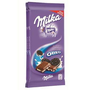 tablette de chocolat au lait aux morceaux d'oréo