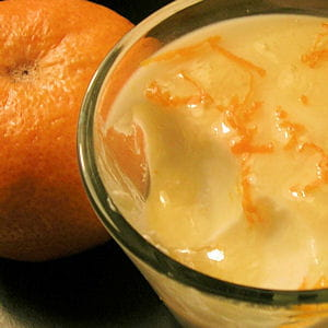 'panna cotta' de petits-suisses à la mandarine