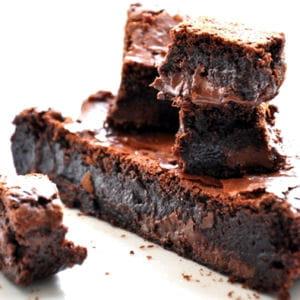 moelleux au chocolat et amandes en aumônière