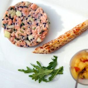 tartare aux deux saumons et à la pomme