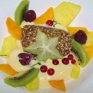 sabayon de fruits frais au muscat