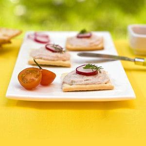 crackers de coraya saumon & st môret et radis