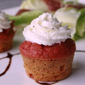cupcake betterave-pomme-fenouil et mousse de chèvre